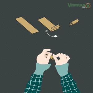 Kako smotati joint? Najbolje je koristiti kartonske filtere koji dolaze u kompletu s rizlama.