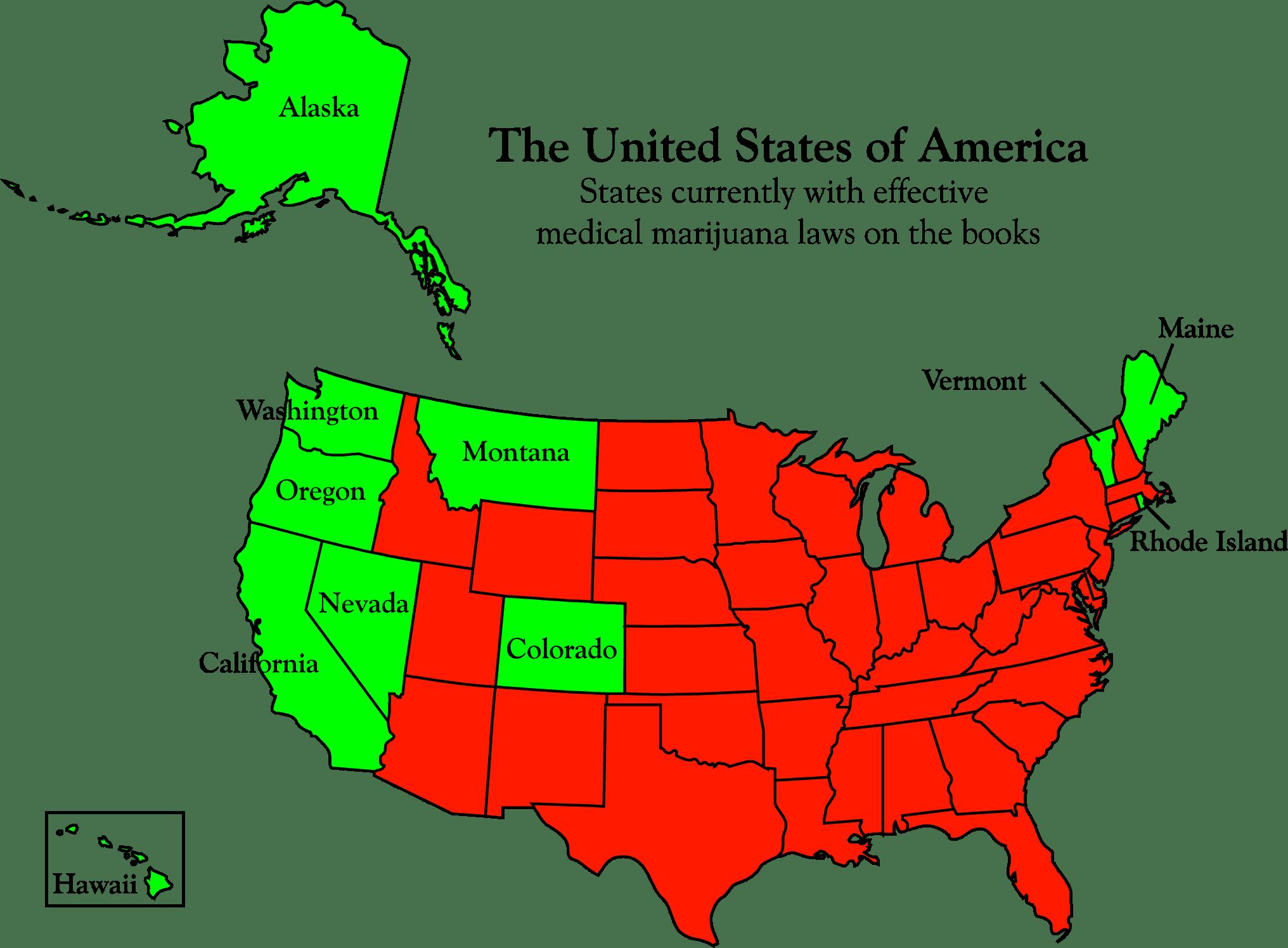Gdje je medicinski kanabis legaliziran u SAD-u?