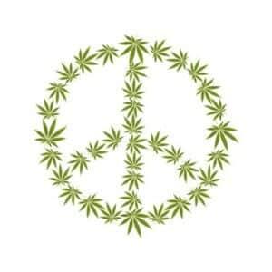 znak mira od kanabisa