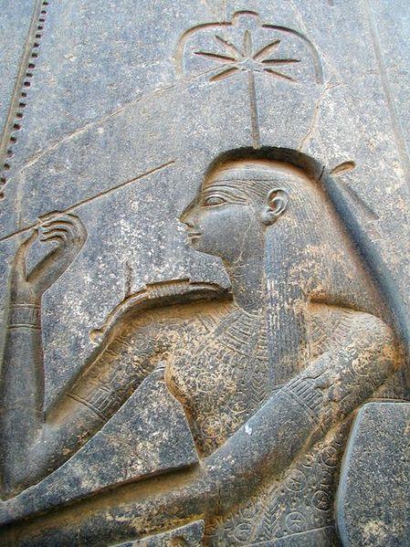 Reljef egipatske božice Sešat na